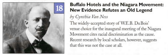 Buffalo Hotels and the Niagara Movement